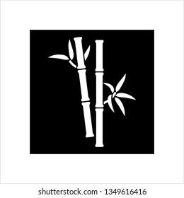 Bamboo Tree Icon Vector Art Illustration