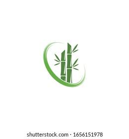 Bamboo tree logo ilustration vector template