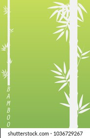 Bamboo tree on green background illustration