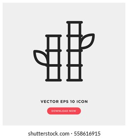 Bamboo vector icon, nature plant symbol. Modern, simple flat vector illustration for web site or mobile app