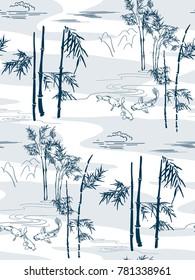 bamboo vector japanese pattern koi fish