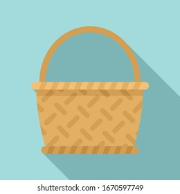 Bamboo wicker icon. Flat illustration of bamboo wicker vector icon for web design