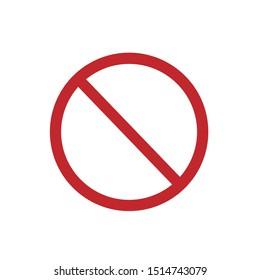 Ban Icon. Flat Ban Icon Sign – Vector