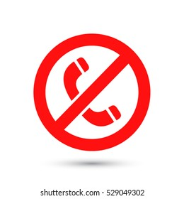A ban on the phone  icon