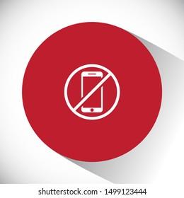 a ban on the phone icon vector . Lorem Ipsum Illustration design