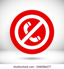 A ban on the phone  vector icon