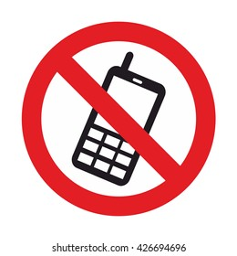 ban talking on the phone symbol vector