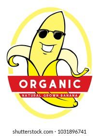 banana character label vector file