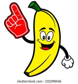 Banana with Foam Finger