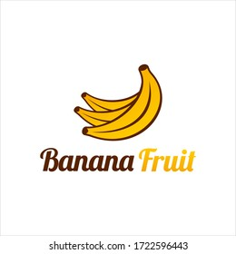 Banana fruit icon modern logo