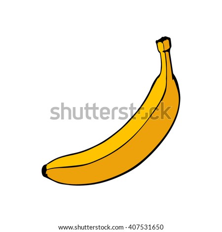 Banana Graphic Art Stock Vector Royalty Free 407531650 Shutterstock