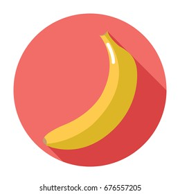 Banana icon in flat design