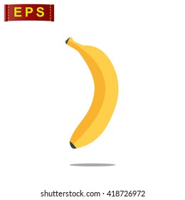banana icon, vector banana icon, isolated flat banana icon