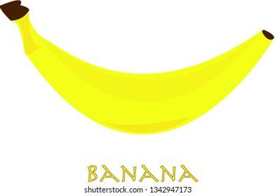 banana illustration, vector
