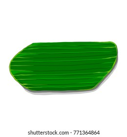 Banana leaf for placing Thai dessert