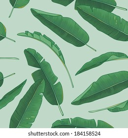 Banana leaves pattern