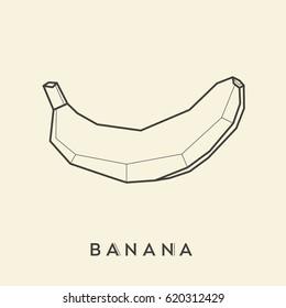 Banana linear illustration