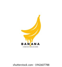 Banana logo template vector icon illustration design