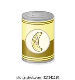 banana in metal can