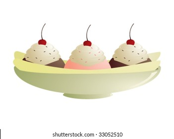 Banana split - vector version