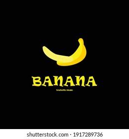 Banana vector logo icon template