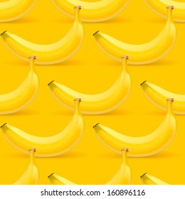 Bananas seamless pattern, vector illustration.
