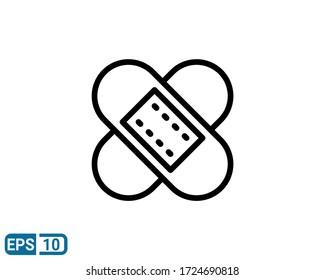 bandage line style icon. illustration for design graphic, website, UI isolated on white background. EPS 10