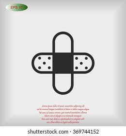 Bandage plaster icon