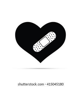 Bandaged Heart Icon