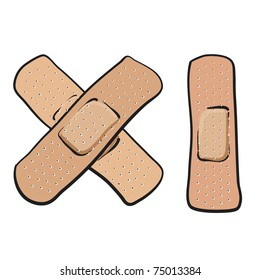 Bandages. A sketch of a bandages for first aid