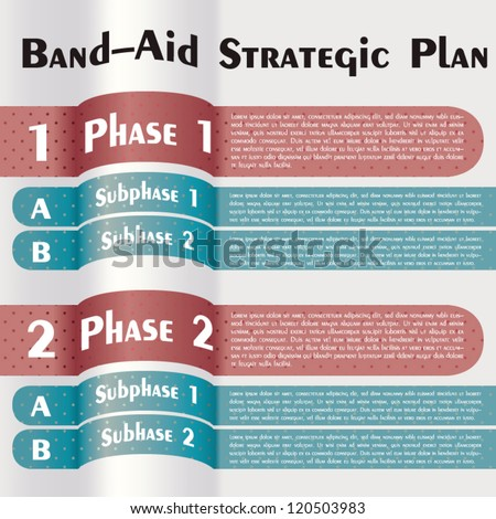 band aid strategic plan modern design template stock vector royalty