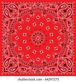 Bandana in 3 colors. You can easily change the background color in the vector file.