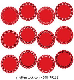 Bandana Pattern Circle Labels