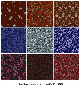 Bandana seamless background, vector illustration