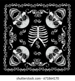 bandana  with skull