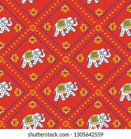 Bandanas Elephant Pattern on red