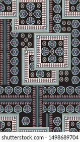 Bandannas navy Bandanna Pattern on black