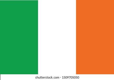 Bandeira da Irlanda (flag of Ireland in portuguese) vector illustration