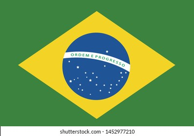 Bandeira do Brasil (Brazil flag in portuguese) vector illustration