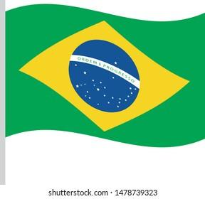 Bandeira do Brasil (Brazil flag in portuguese) vector illustration