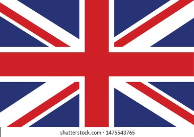 Bandeira do Reino Unido (United Kingdom in portuguese) vector illustration