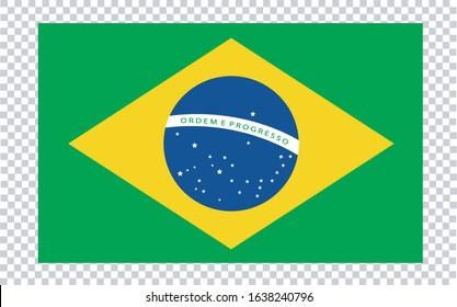 Bandera de Brasil (Brazil flag in spanish) vector illustration.