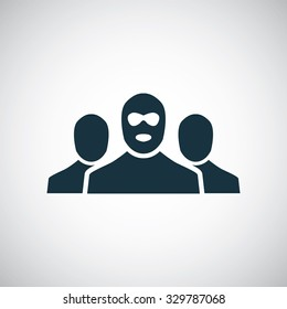bandit group icon, on white background