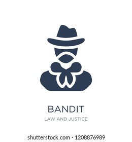 Bandit icon. Trendy flat vector Bandit icon on white background from law and justice collection, vector illustration can be use for web and mobile, eps10