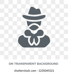 Bandit Icon Trendy Flat Vector On Transparent Background From Law And Justice Collection