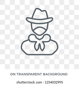 Bandit icon. Trendy flat vector Bandit icon on transparent background from law and justice collection. High quality filled Bandit symbol use for web and mobile