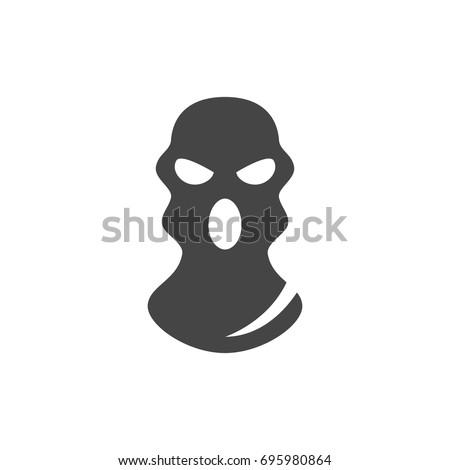 Bandit Mask Icon On White Background Vector Logo Illustration Isolated Sign Symbol