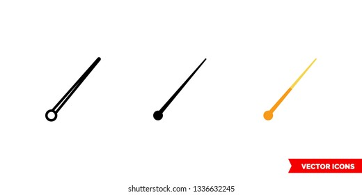 Bandmasters mace icon of 3 types: color, black and white, outline. Isolated vector sign symbol.