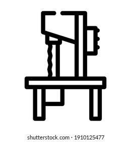bandsaw equipment line icon vector. bandsaw equipment sign. isolated contour symbol black illustration