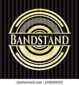 Bandstand gold shiny emblem. Vector Illustration. Detailed.